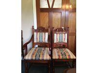8 Mahogany Dining Chairs