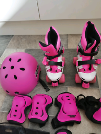 Girls No Fear Roller Ajustable Skates size C10-C23 for sale  Trafford, Manchester