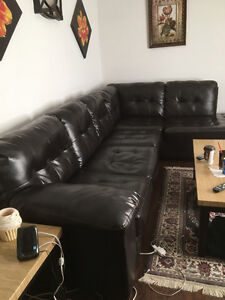Sectional couch and coffee table set