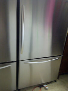 Stainless Fridge and Freezer. Counter Dept. Ice Maker.