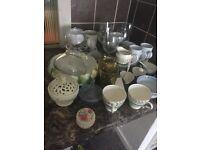 job lot glasses and ceramics quick sale