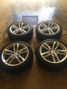 18'' Winter tires/mags combo off Audi in very good condition