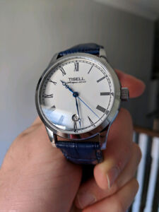 Tisell Antique Watch 9015 Miyota Sapphire crystal dress watch