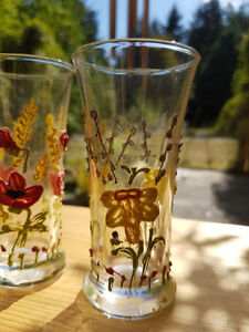 60 year old GLOWING ANTIQUE HANDPAINTED GLASSES...... Vancouver Greater Vancouver Area image 2