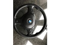 BMW E46 M3 MULTI FUNCTIONAL STEERING WHEEL WITH AIRBAG