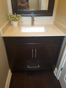 Bathroom vanity with granite counter- like new!