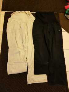 $20 2 pairs 1X Maternity Pants turn Capris