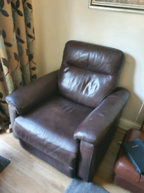 Premium leather armchair