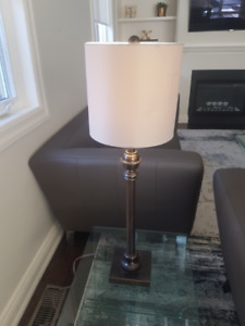 Pewter Table Lamp
