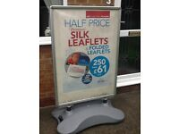 Large water based pavement sign A0 size