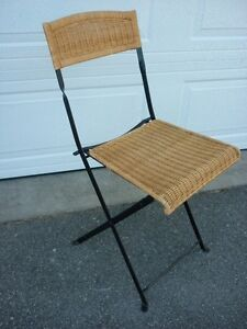 Chair - Folding Wicker Chair