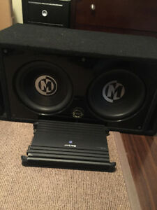 "12"" Memphis Audio Car Subwoofers and Alpine Amplifer"