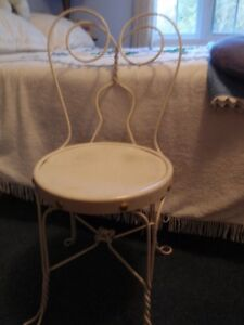 Vintage Wrought Iron Ice Cream Parlour Chair-Reduced price