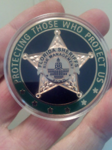 LARGE 45mm FLORIDA SHERIFF'S RISK MANAGEMENT COIN.