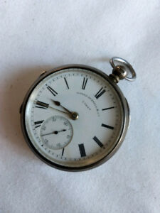 Alfred Russell & Co. Sterling Silver Engraved Pocket Watch