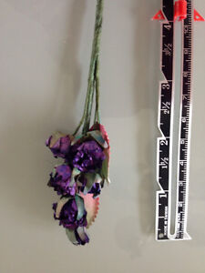 minature purple rose crafting flowers Strathcona County Edmonton Area image 1