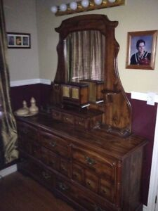 Beautiful Solid Wood Dresser with Mirror