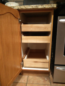 Add drawers to your existing kitchen cabinets