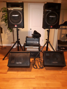 PA System, stands & monitors Perfect for gigs & jam