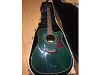 Westfield acoustic guitar and hard case