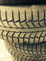 Winter tires on alloy wheels