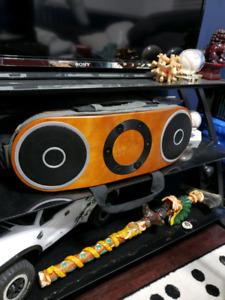 Marley speakers.