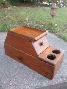 """Wooden """"shoe shine"""" cabinet for sale or trade"""
