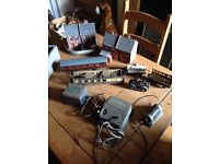OLD TRAIN CONTROLLERS, CARRIAGES, ENGINE ETC
