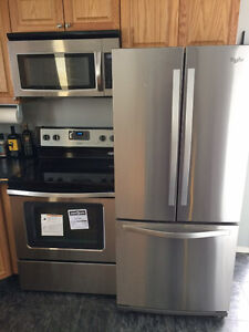 Whirlpool Stainless Steel Fridge and Stove