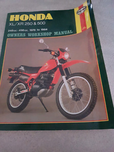 Honda XL/XR 250 & 500 owners manual