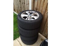 Ford Focus 2013 zetec 16 inch alloys with tyres