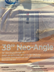 "38"" Neo-Angle Shower Kit"