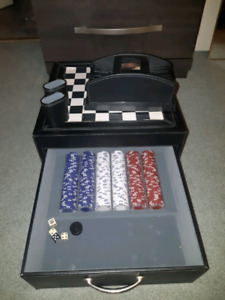 Leater and Polished Metal Game Set