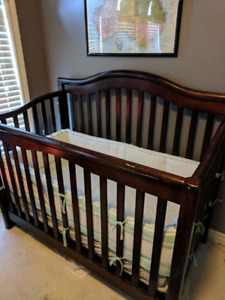 Matching solid wood crib, change table & rocking chair