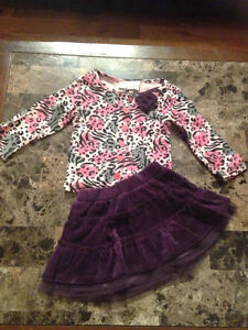 Flapdoodles 2pc Outfit Size 12 months