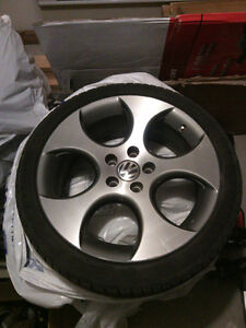 "VOLKS VW GTI GLI HUFFS MAGS RIMS 18"" INCH WITH TIRES- 225/40-R18"