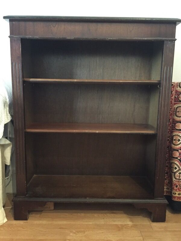 Solid dark wood vintage bookcase in brighton east for Brusali bookcase