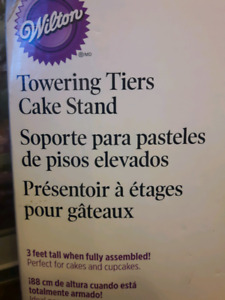 Towering tiers cake stand for rent