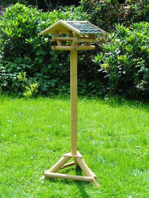 Vogelhaus Holz XXL mit Ständer Solar Beleuchtung Vogelhäuschen Vogel Futterhaus