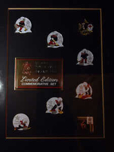1988 Olympic curling pin set