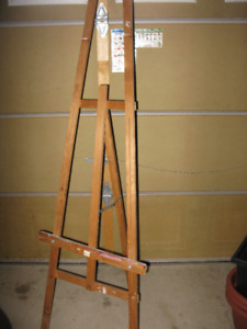 "Wooden Painting Easel 71.5""x 23""  for painting or drawing"