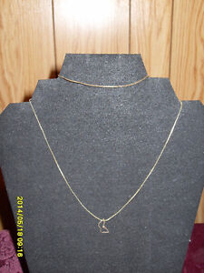 "10kt yellow gold 16"" fine chain necklace/10kt bracelet"
