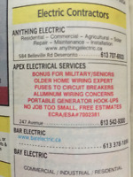 """Kingston Electrician """"Older Home Wiring Expert"""" since 1984"""