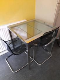 Ikea Glivarp Extendable Table & 2 Chairs