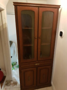 Curio / China Display Cabinet / Hutch with Buffet For Sale $190