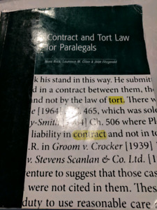 Contact and Tort Law book