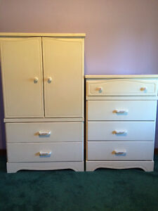Set of White Laminate Dressers