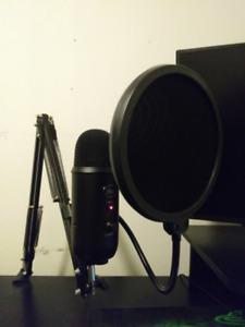 Blue Yeti with Boom Arm and Pop Filter
