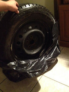 from toyota celica 2001 winter tires and rims Kitchener / Waterloo Kitchener Area image 3