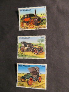 (6) old 1900's Antique Car Stamps - 1983